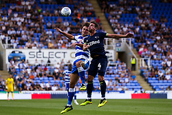 Craig Bryson of Derby County challenges John Swift of Reading - Mandatory by-line: Robbie Stephenson/JMP - 03/08/2018 - FOOTBALL - Madejski Stadium - Reading, England - Reading v Derby County - Sky Bet Championship