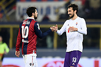 Mattia Destro Bologna, Davide Astori Fiorentina <br /> Bologna 06-02-2016 Stadio Dall'Ara Football Calcio Serie A 2015/2016 Bologna - Fiorentina  .<br /> Foto Image Sport/Insidefoto <br /> <br /> Fiorentina captain Davide Astori dies suddenly aged 31 . <br /> Astori was staying a hotel with his team-mates ahead of their game on Sunday away at Udinese when he passed away. <br /> Foto Insidefoto