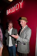BOB AND ROBERTA SMITH, Opening of Rude Britannia. Tate Britain. Millbank. London. 7 June 2010. -DO NOT ARCHIVE-© Copyright Photograph by Dafydd Jones. 248 Clapham Rd. London SW9 0PZ. Tel 0207 820 0771. www.dafjones.com.