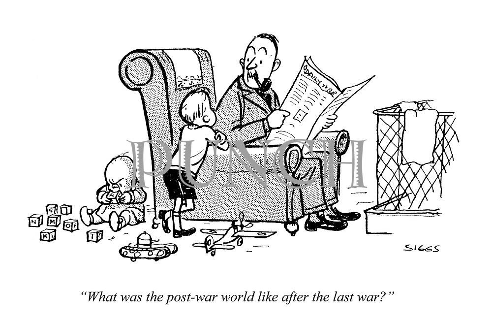 """What was the post-war world like after the last war?"""