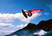 Robbie Naish, Windsurfing, Diamond Head, Oahu, Hawaii, No model  release editorial use only.