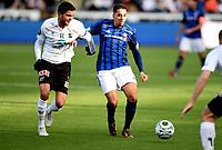 Fotball , 12. april 2015 ,   Eliteserien , Tippeligaen <br /> Odd - Stabæk<br /> Yassine El Ghanassy , Stabæk<br /> <br /> Fredrik Oldrup Jensen , Odd<br /> Foto: Digitalsport