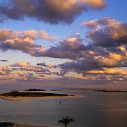Sunrise over Bush Key seen from Garden Key, Dry Tortugas National Park, FL.