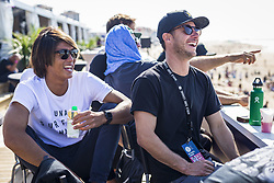 October 12, 2017 - Kanoa Igarashi (USA)  before his heat of Round Two at Quiksilver Pro France 2017, Hossegor, France..Quiksilver Pro France 2017, Landes, France - 12 Oct 2017 (Credit Image: © WSL via ZUMA Press)