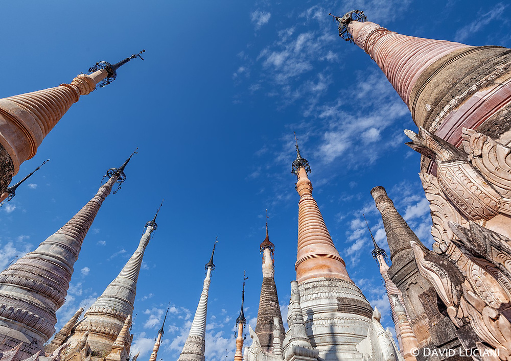 Their are over 2000 Pagodas at the Kakku Pagoda complex.