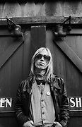 Tom Petty photographed  behind the studio that they were using in San Francisco in <br /> 1979