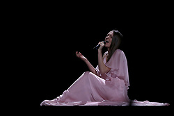 May 7, 2018 - Lisbon, Portugal - Singer Ieva Zasimauskaite of Lithuania performs during the Dress Rehearsal of the first Semi-Final of the 2018 Eurovision Song Contest, at the Altice Arena in Lisbon, Portugal on May 7, 2018. (Credit Image: © Pedro Fiuza/NurPhoto via ZUMA Press)