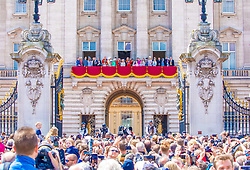 The British Royal Family with Queen Elizabeth II, Camilla Duchess of Cornwall, Catherine Duchess of Cambridge, Kate Middleton, Prince Harry Duke of Sussex, Meghan Markle Duchess of Sussex, Princess Beatrice of York, Princess Eugenie of York and husband Jack Brooksbank, Prince Charles of Wales, Prince William Duke of Cambridge during Trooping the Colour ceremony, marking the monarch's official birthday, in London. 08 Jun 2019 Pictured: The British Royal Family with Queen Elizabeth II, Camilla Duchess of Cornwall, Catherine Duchess of Cambridge, Kate Middleton, Prince Harry Duke of Sussex, Meghan Markle Duchess of Sussex, Princess Beatrice of York, Princess Eugenie of York and husband Jack Brooksbank, Prince Charles of Wales, Prince William Duke of Cambridge during Trooping the Colour ceremony, marking the monarch's official birthday, in London. Photo credit: MEGA TheMegaAgency.com +1 888 505 6342