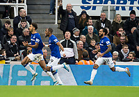 Football - 2019 / 2020 Premier League - Newcastle United vs. Everton<br /> <br /> Dominic Calvert-lewin of Everton celebrates scoring the winning goal to make it 2-1, at St James' Park Stadium.<br /> <br /> COLORSPORT/BRUCE WHITE