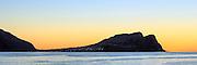 Sunset over Kvalsvik on west coast of Norway   Solnedgang på Kvalsvik ved Fosnavåg.