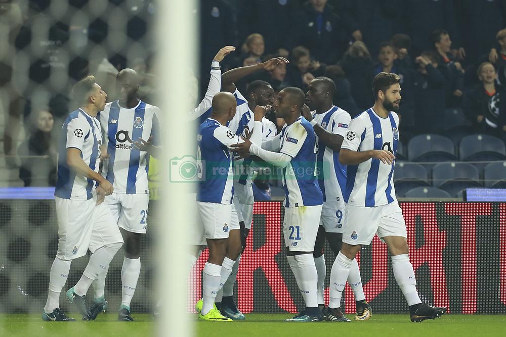 December 6, 2017 - Na - Porto, 06/12/2017 - Football Club of Porto received, this evening, AS Monaco FC in the match of the 6th Match of Group G, Champions League 2017/18, in Estádio do Dragão. Aboubakar celebrates goal  (Credit Image: © Atlantico Press via ZUMA Wire)