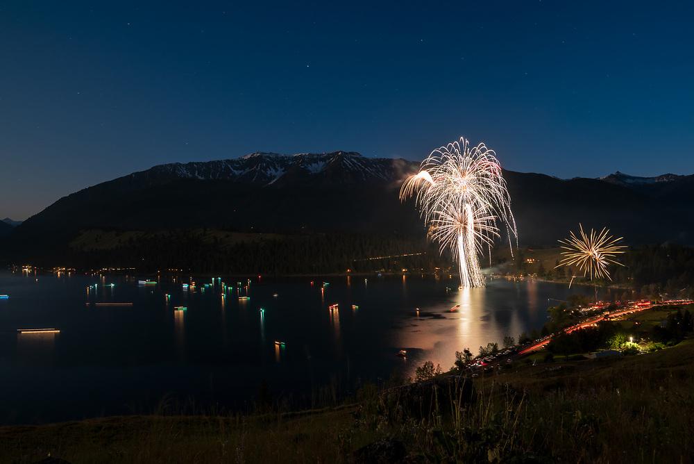 4th of July fireworks, Wallowa Lake, Oregon.
