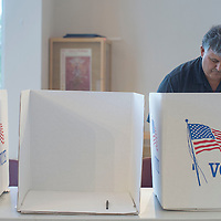 """Sammy """"C"""" Chioda is the 64th person to cast his vote for the general obligation bond election at the Courthouse Rotunda in Gallup Tuesday."""