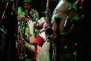 Barranco, nightlife. The well-known salsa band, Sabor y Control playing in La Noche de Barranco, very famous concert hall