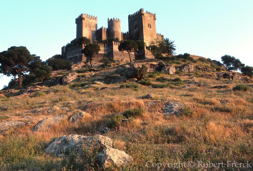 SPAIN, ANDALUSIA Almodovar del Rio, Moorish Castle rebuilt by Pedro I, C1350, west of Cordoba