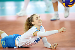 Pia Blazic of Slovenia during the volleyball match between National team of Turkey and Slovenia in Gold Medal game of Womens U23 World Championship 2017, on September 17, 2017 in SRC Stozice, Ljubljana, Slovenia. Photo by Morgan Kristan / Sportida