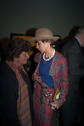 EDWINA SASSOON; LADY HENRIETTA ROUS, Craigie Aitchison - private view<br /> Memorial retrospective, Timothy Taylor Gallery, 15 Carlos Place, London 28 March 2012.