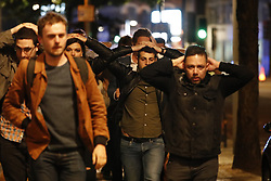 June 4, 2017 - London, London, UK - London, UK. People being evacuated near Borough Market after reports of an incident involving a vehicle and pedestrians in London Bridge.  Reports are saying a white transit van may have deliberately run down people crossing the bridge. (Credit Image: © Tolga Akmen/London News Pictures via ZUMA Wire)