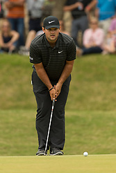 March 23, 2018 - Austin, TX, U.S. - AUSTIN, TX - MARCH 23:  Patrick Reed lines up a birdie putt during the WGC-Dell Technologies Match Play Tournament on March 22, 2018, at the Austin Country Club in Austin, TX.  (Photo by David Buono/Icon Sportswire) (Credit Image: © David Buono/Icon SMI via ZUMA Press)