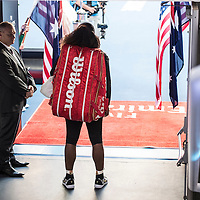 Serena Williams of the United States during the women's final on day thirteen of the 2017 Australian Open at Melbourne Park on January 28, 2017 in Melbourne, Australia.<br /> (Ben Solomon/Tennis Australia)