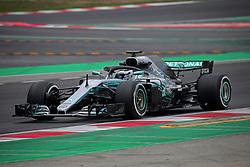 February 26, 2018 - Barcelona, Catalonia, Spain - the Mercedes of Valtteri Bottas during the tests at the Barcelona-Catalunya Circuit, on 26th February 2018 in Barcelona, Spain. (Credit Image: © Joan Valls/NurPhoto via ZUMA Press)