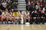 A Quite Nuggets bench after a big lost to the Pistons 93-61in Hamilton,NBL 2011,Waikato Pistons Vs Otago Nuggets,Hamilton Boys' High,Hamilton.  Saturday 9 July 2011.<br /> Photo: Dion Mellow / photosport.co.nz