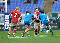 Rome, Italy -during Italia vs Galles race of the championship rugby SIX NATIONS played at the Olimpico in Rome.(Credit Image: © Gilberto Carbonari/).