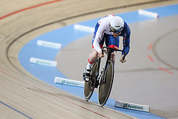 March 2, 2018 - Apeldoorn, Netherlands - Jack Carlin of Great Britain competes in Men's sprint qualifying during the UCI Track Cycling World Championships in Apeldoorn on March 2, 2018. (Credit Image: © Foto Olimpik/NurPhoto via ZUMA Press)
