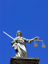 Figure of Justice on top of Dublin Castle in Dublin Ireland 2006