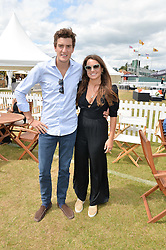 The HON.PEREGRINE PEARSON and the HON.CATRINA PEARSON at the Jaeger-LeCoultre Gold Cup Polo Final held at Cowdray Park Polo Club, Midhurst, West Sussex on 19th July 2015