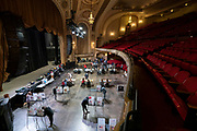 Voters cast their ballot at The Orpheum Theater on November 3rd. For the first time the theater was opened for the election. After a record-breaking early voting turnout, Americans head to the polls on the last day to cast their vote for incumbent U.S. President Donald Trump or Democratic nominee Joe Biden in the 2020 presidential election. (Photo by Andy Manis/Getty Images)