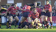 Gloucester vs Wasps , Gloucester, Gloucestershire, UK., 04.01.2003,  Andy GOMMERSELL, passing from the back of the scrum, during, Zurich Premiership Rugby match, Gloucester vs London Wasps,  Kingsholm Stadium,  [Mandatory Credit: Peter Spurrier/Intersport Images],