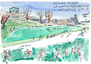 Ultimate Frisbee at Walt Hundley Playfield in West Seattle.<br /> <br /> Gabriel Campanario / The Seattle Times