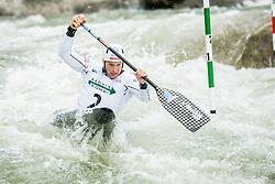 Benjamin Savsek of Slovenia competes during Canoe Single (C1) Men Final race of 2018 ICF Canoe Slalom World Cup 4, on September 1, 2018 in Tacen, Ljubljana, Slovenia. Photo by Vid Ponikvar / Sportida