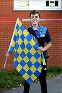 AFC Wimbledon fan prior to kick off during the EFL Sky Bet League 1 match between AFC Wimbledon and Milton Keynes Dons at the Cherry Red Records Stadium, Kingston, England on 22 September 2017. Photo by Matthew Redman.
