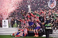 SOCCER : Atletico Madrid vs OM - Europa League - 05/16/2018<br /> <br /> EQUIPE DE FOOTBALL DE L ATLETICO MADRID - JOIE - TROPHEE<br /> <br /> Norway only