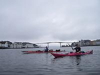 Kayakers in Kristiansund - kajakkpadlere i Kristiansund, Møre og Romsdal