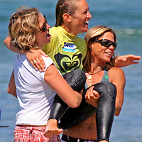 Cori Schumacher, winner of the 3rd Annual Roxy Jam Linda Benson Women's World Longboard Professional, 2008, Cardiff by the Sea, California.