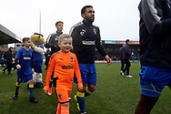 *** during the EFL Sky Bet League 1 match between AFC Wimbledon and Blackpool at the Cherry Red Records Stadium, Kingston, England on 20 January 2018. Photo by Matthew Redman.