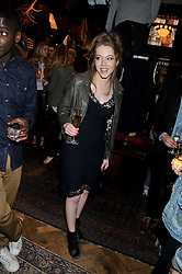 CHARLOTTE SPENCER at a reception hosted by Ralph Lauren Double RL and Dexter Fletcher before a private screening of Wild Bill benefitting FilmAid held at RRL 16 Mount Street, London on 26th March 2012.