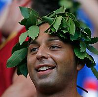 Photo: Glyn Thomas.<br />Italy v Ukraine. Quarter Finals, FIFA World Cup 2006. 30/06/2006.<br /> An Italian fan dressed as an Ancient Roman.