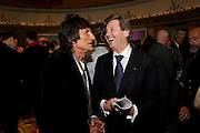 RONNIE WOOD; MELVYN BRAGG, The South Bank Sky Arts Awards , The Dorchester Hotel, Park Lane, London. January 25, 2011,-DO NOT ARCHIVE-© Copyright Photograph by Dafydd Jones. 248 Clapham Rd. London SW9 0PZ. Tel 0207 820 0771. www.dafjones.com.