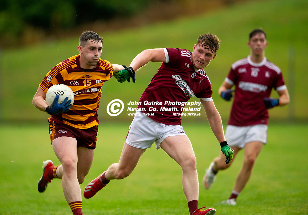 27-07-21. Carnaross v St. Vincent's Tailteann Cup Final 2020.<br /> Paddy McDermott, Carnaross in action against Conor Harford, St. Vincents in the Meath Tailteann Cup Final 2020.<br /> Photo: John Quirke / www.quirke.ie<br /> ©John Quirke Photography, 16 Proudstown Road, Navan. Co. Meath. (info@quirke.ie / 046-9028461 / 087-2579454).