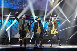 October 16, 2018 - Nashville, TN, U.S. - NASHVILLE, TN - OCTOBER 16: Social Club Misfits and Tauren Wells perform during the 49th Annual Dove Awards on October 16, 2018, at Allen Arena in Nashville, TN. (Photo by Jamie Gilliam/Icon Sportswire) (Credit Image: © Jamie Gilliam/Icon SMI via ZUMA Press)