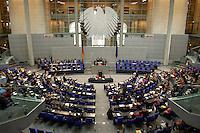 02 JUL 2004, BERLIN/GERMANY:<br /> Abstimmung durch Hand aufheben, nach der Bundestagsdebatte zur Zusammenlegung von Arbeitslosenhlfe und Sozialhilfe, Hartz IV, Plenum, Deutscher Bundestag<br /> IMAGE: 20040702-01-108<br /> KEYWORDS: Sitzung, Übersicht, Uebersicht, Hand heben, Bundesadler