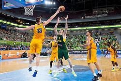 Ihor Zaytsev #13 of Ukraine and Darjus Lavrinovic #7 of Lithuania during basketball match between national team of Ukraine and Lithuania of Eurobasket 2013 on September 15, 2013 in SRC Stozice, Ljubljana, Slovenia. (Photo By Matic Klansek Velej / Sportida.com)