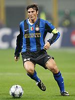 """Javier Zanetti (Inter)<br /> Milano 22/10/2008 Stadio """"Giuseppe Meazza"""" <br /> Champions League 2008/2009<br /> Inter-Anorthosis (1-0)<br /> Foto Luca Pagliaricci Insidefoto"""