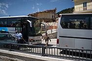 Italian army is still controlling the area to prevent looting and to support the few inhabitants