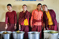 Turn by turn nuns are in charge of the kitchen for the whole community - Nagi gompa, Kathmandu, Nepal, 2014