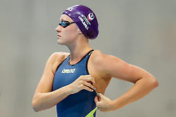 Fran Halsall of Loughbrough wins the Womens 50m Freestyle Final - Photo mandatory by-line: Rogan Thomson/JMP - 07966 386802 - 16/04/2015 - SPORT - SWIMMING - The London Aquatics Centre, England - Day 4 - British Swimming Championships 2015.